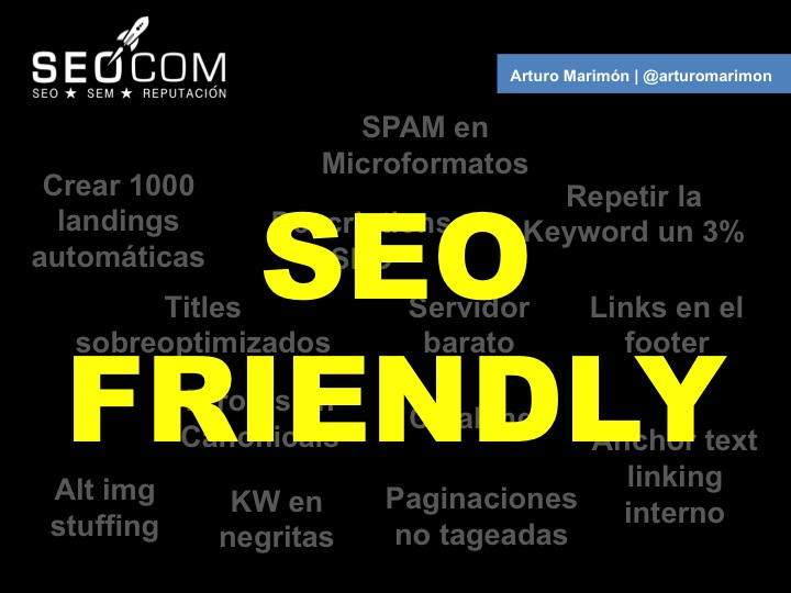 Cuidado con tu site SEO friendly